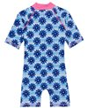 Platypus Australia Girls' Inky Bloom Short Sleeve Sunsuit (Baby, Little Kid, Big Kid)