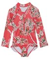 Seafolly Girls' Little Village in Como L/S Surf One Piece Swimsuit (Baby, Toddler, Little Kid)