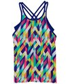 TYR Girls' Paint Party Olivia 2 in 1 Tankini Top (Big Kid)