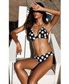 La Blanca Dot Dot Goose Reversible Halter Triangle Bikini Top
