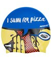 Sporti I Swim For Pizza Silicone Swim Cap