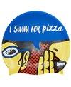 Sporti I Swim For Pizza Silicone Swim Cap