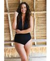 Capriosca Its All About Black 6 Way Tie One Piece Swimsuit