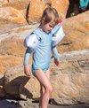 Otter Wings Saltwater Blue Long Sleeve Swim Shirt