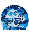 Sporti Safesplash Swim School Camo Silicone Swim Cap