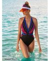 Magicsuit by Miraclesuit Prism Angelina Plunge One Piece Swimsuit