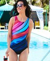 Reebok Women's Marvel Attraction High Neck Chlorine Resistant One Piece Swimsuit
