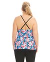 Dolfin Aquashape Women's Wildflowers Tie Front Tankini Top