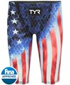 TYR Men's Avictor Supernova USA High Waist Jammer Tech Suit Swimsuit