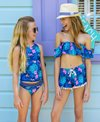 Snapper Rock Girls' Rain Forest Two Piece Sports Tankini Set (Toddler, Little Kid, Big Kid)