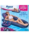 Aqua Leisure Ultimate 2 In 1 Convertible Water Lounge Multi Position Recliner & Tanner With Caddy
