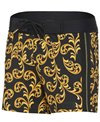 Sauvage Gold Scroll Retro Lycra Swim Trunk