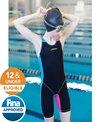 FINIS Girls' Fuse Jr. Open Back Kneeskin Tech Suit Swimsuit