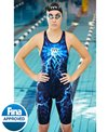 TYR Women's Venzo Phantom Oblivion Closed Back Kneeskin Tech Suit Swimsuit