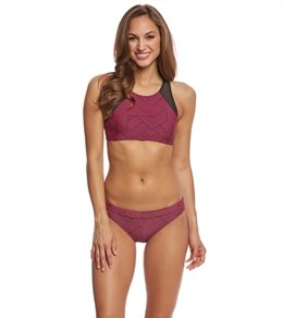 Sporti Active Chevron High Neck Crop Bikini Top