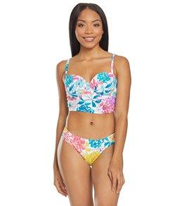 f8707ea6bddee Kenneth Cole Reaction Paint The Garden Floral Underwire Bustier Bikini Top