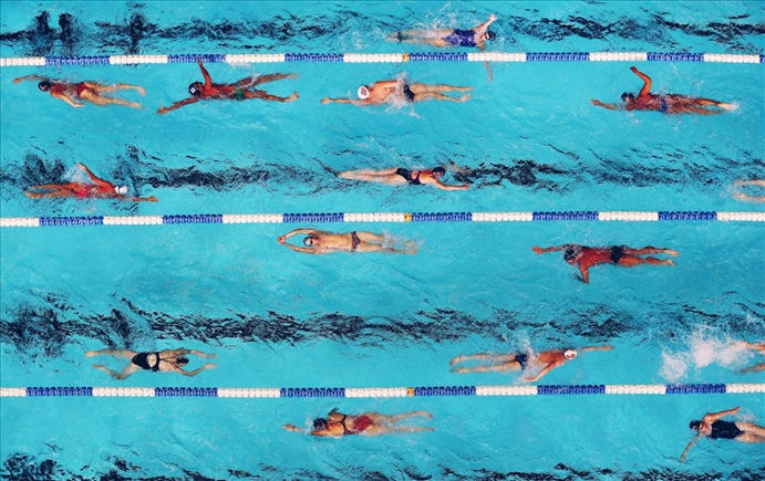 The other auburn sprint set, or how to drive lap swimmers crazy.