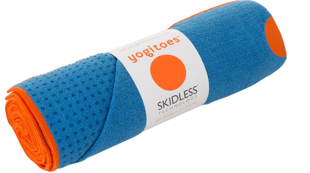 The Rskidless Mat Towel Has A Soft Absorbent Top And Yogitoes Patented Silicone Dots All Over Bottom For Skid Free Practice Extra Grip