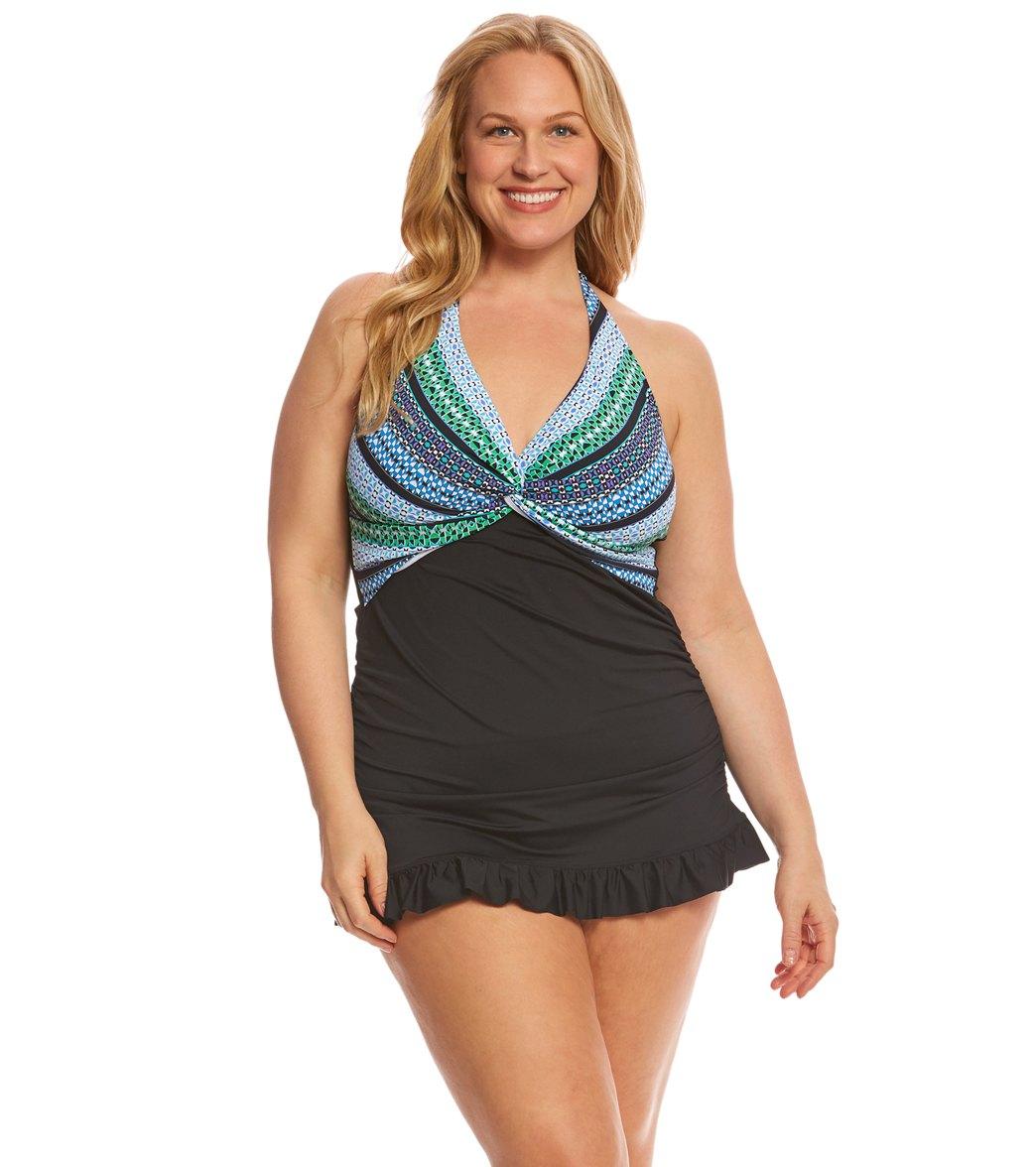481986d8ba Sporty Swim Dress Empire Waist Swim Dress ...