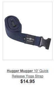 yoga strap snap buckle