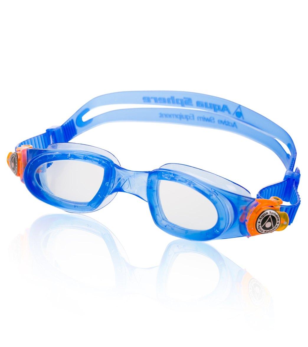 13623b13f1c5 Aqua Sphere Moby Kid Goggle Clear at SwimOutlet.com