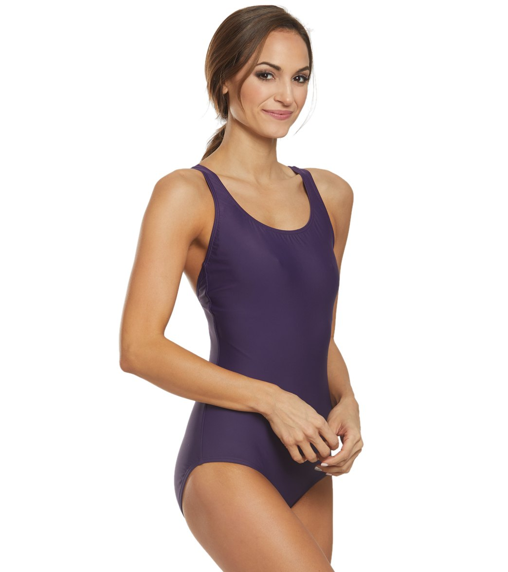 d699b51fb24 Speedo Moderate Ultraback One Piece Swimsuit at SwimOutlet.com ...