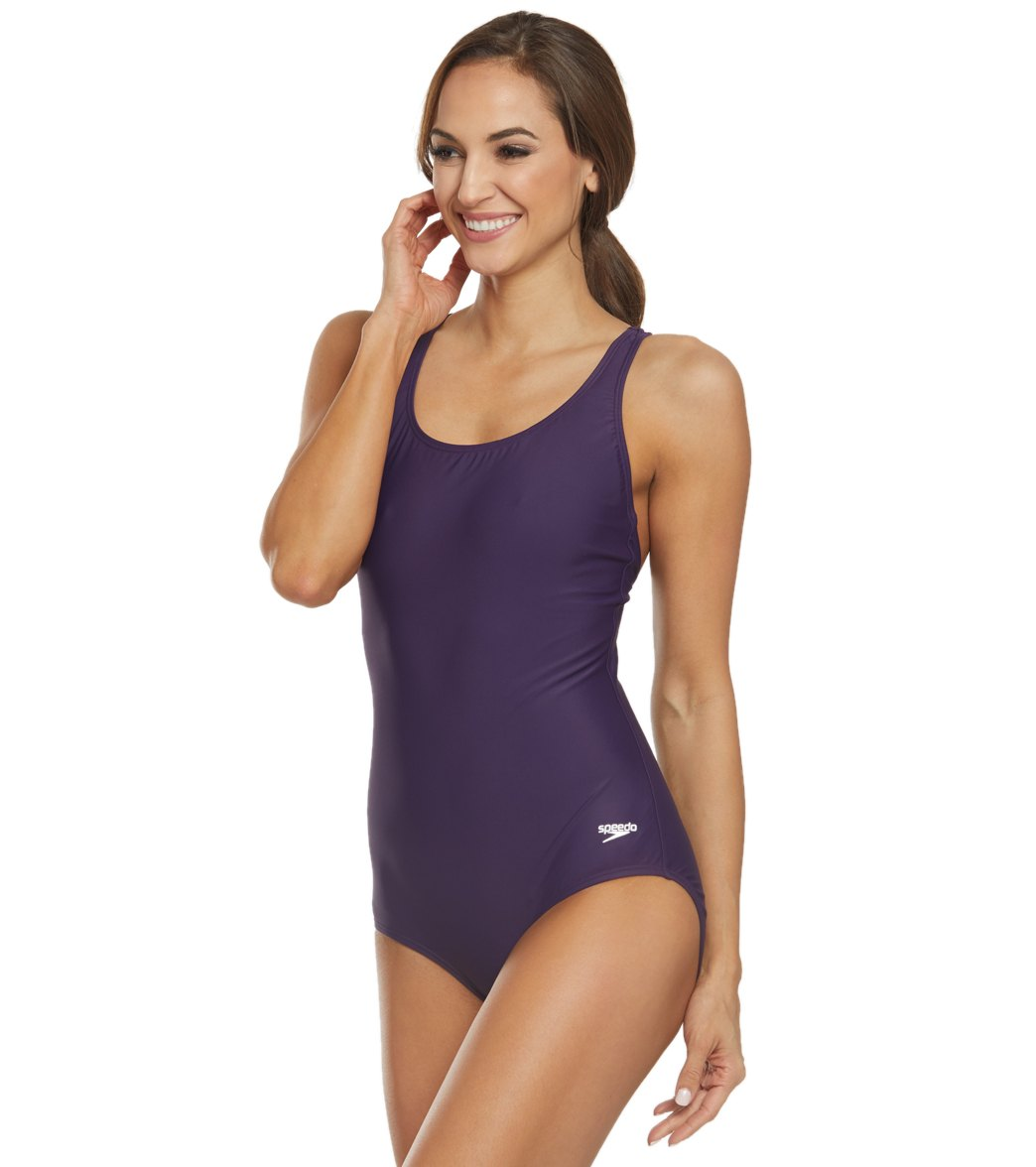 83ff911d5d Speedo Moderate Ultraback One Piece Swimsuit at SwimOutlet.com ...