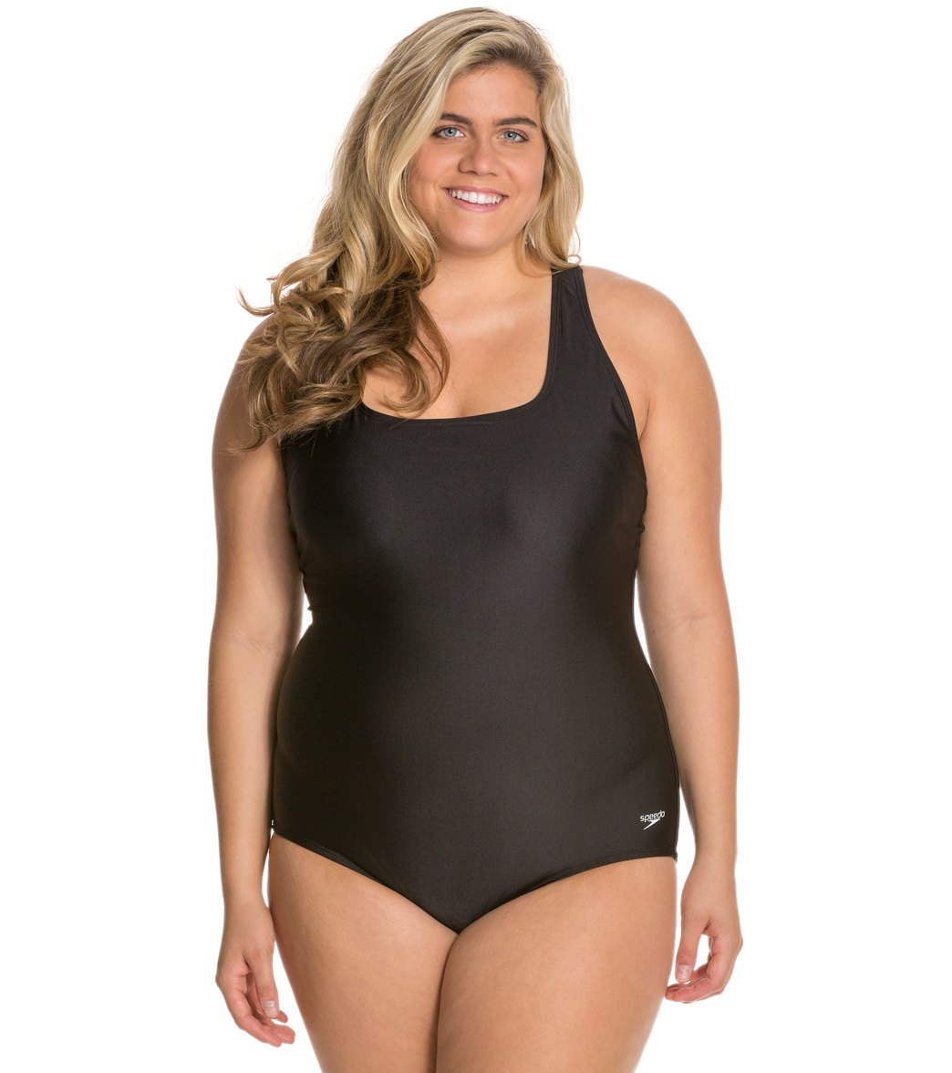 Speedo Moderate Ultraback Plus Size One Piece