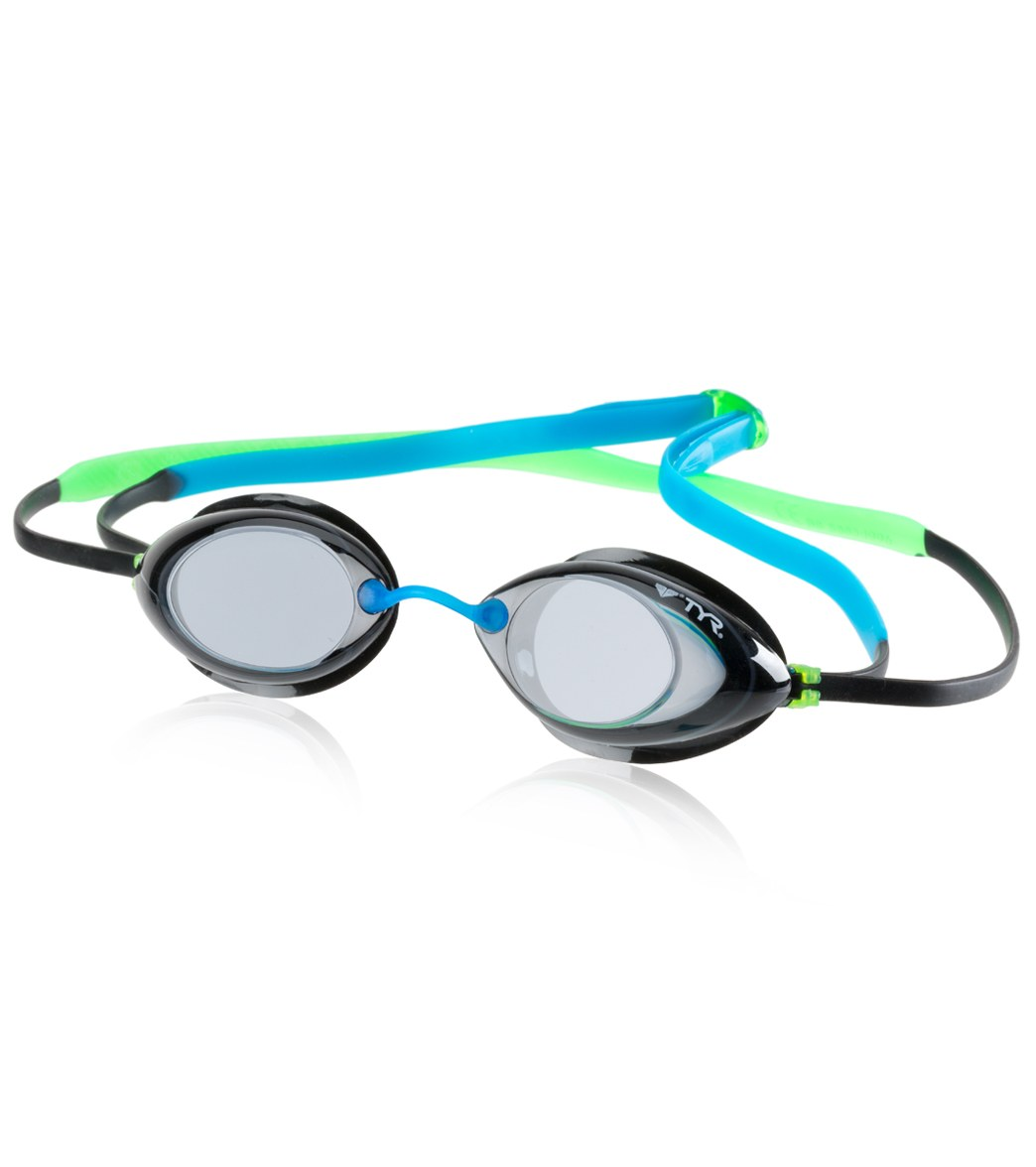 56fc6b0a04c TYR Tracer Junior Racing Goggle at SwimOutlet.com