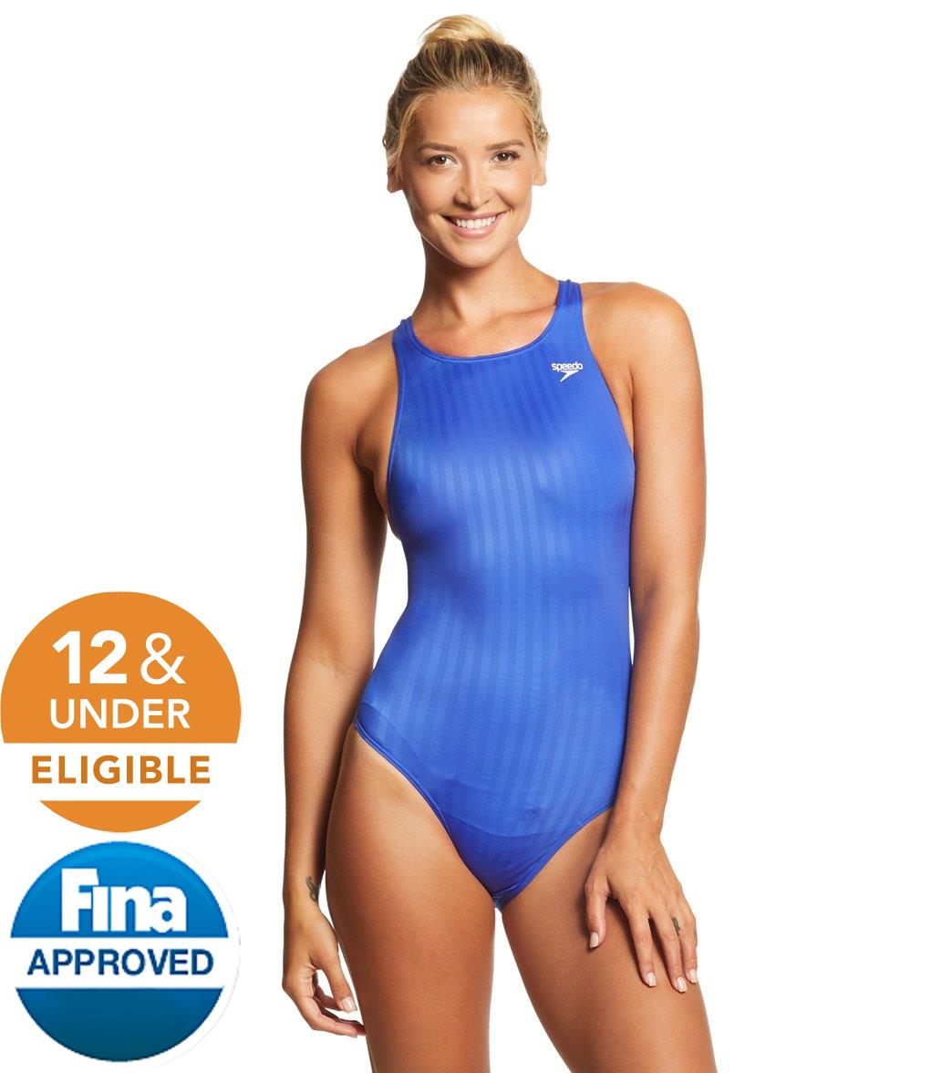 Speedo Women's Aquablade Recordbreaker Tech Suit Swimsuit