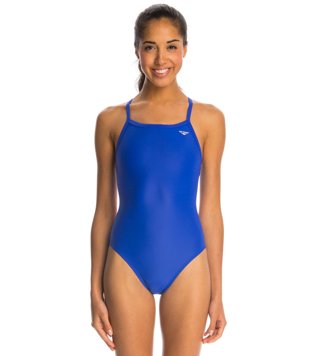 The Finals Solid Butterfly Back One Piece Swimsuit
