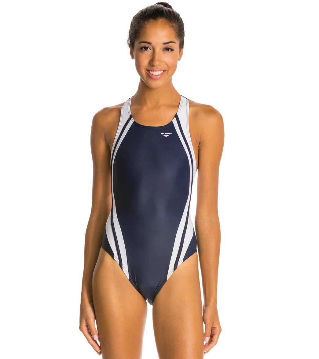 TYR The Finals Reactor Splice Competition Back One Piece Swimsuit