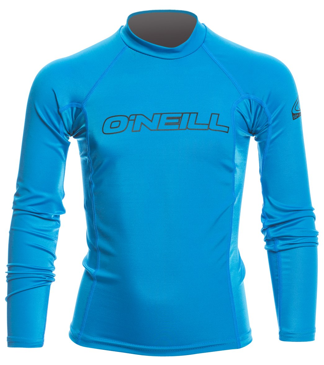 6211058083 O'Neill Youth Basic Skins Long Sleeve Crew Rashguard