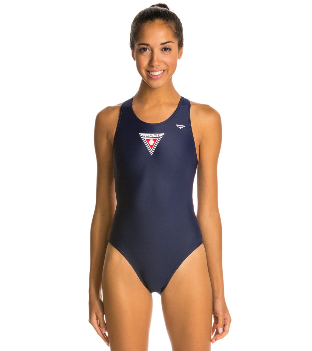 83725d090bb The Finals Lifeguard Super V-Back One Piece Swimsuit at SwimOutlet.com