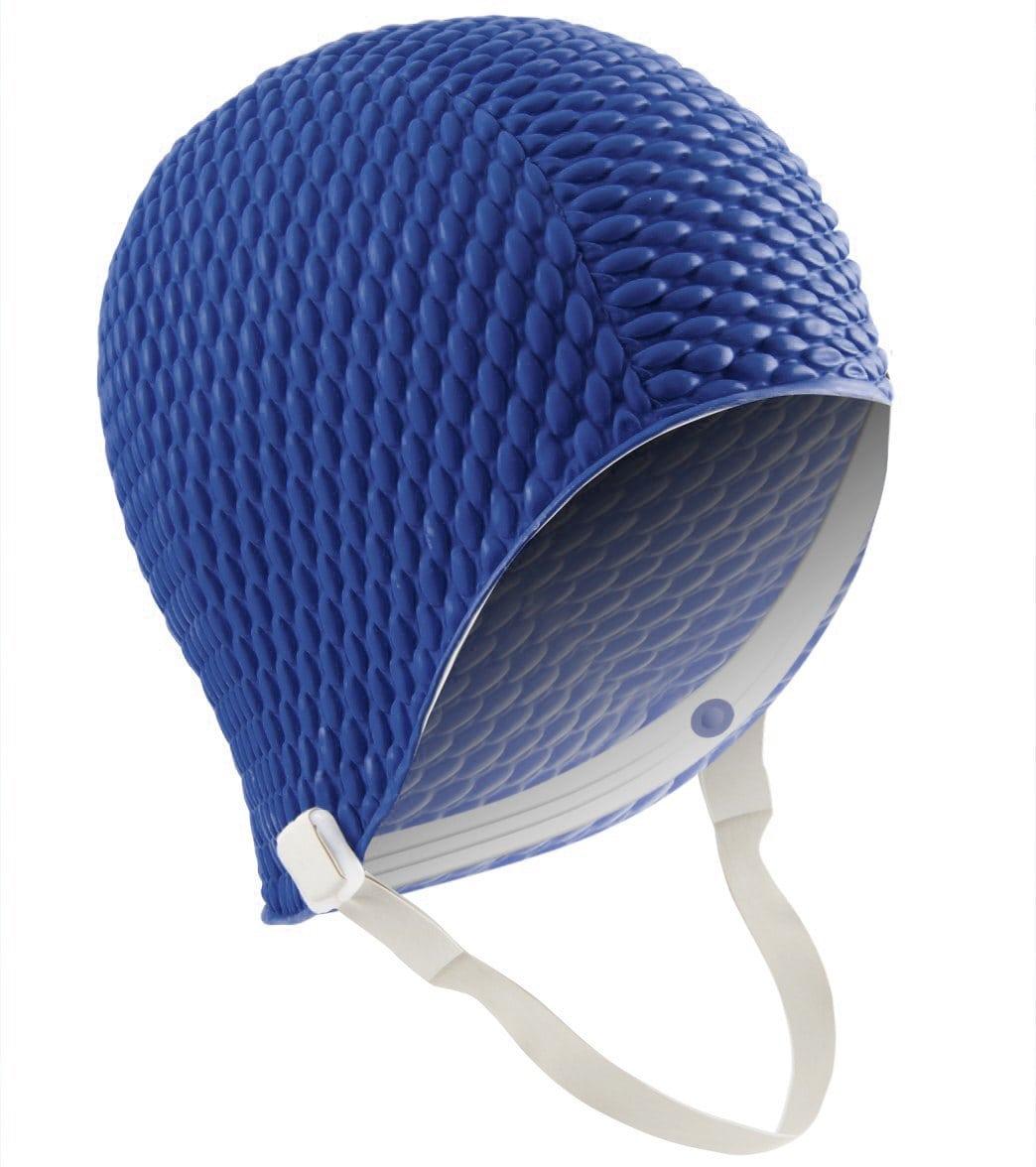 ac830ea79bb Sporti Bubble Swim Cap with Chin Strap at SwimOutlet.com