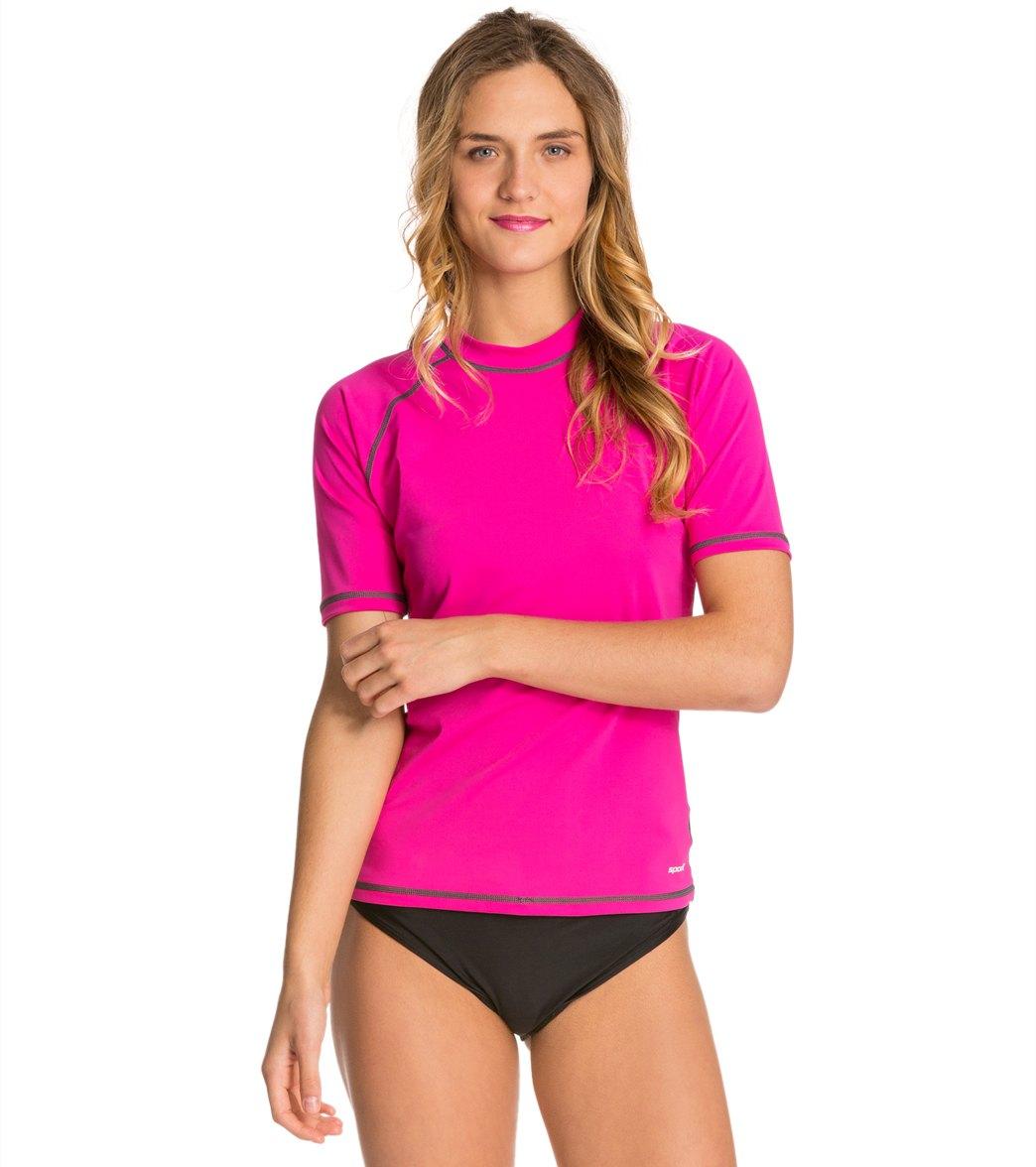 eccc9964e2662 Sporti Women s S S UPF 50+ Swim Shirt at SwimOutlet.com