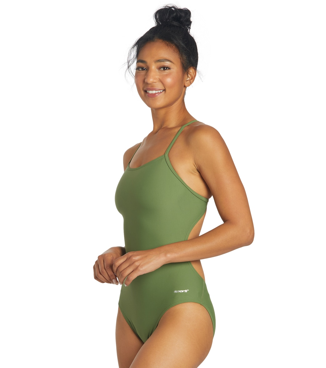 c0fb7205aae89 Sporti Micro Back One Piece Swimsuit at SwimOutlet.com