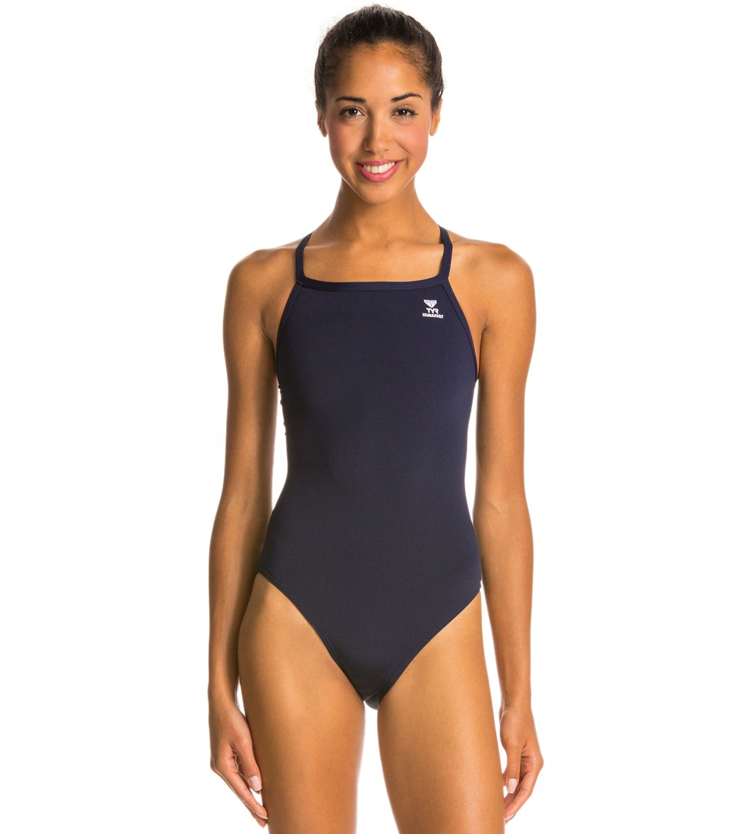 ade4ae4363119 TYR Durafast Solid Diamondfit One Piece Swimsuit at SwimOutlet.com - Free  Shipping