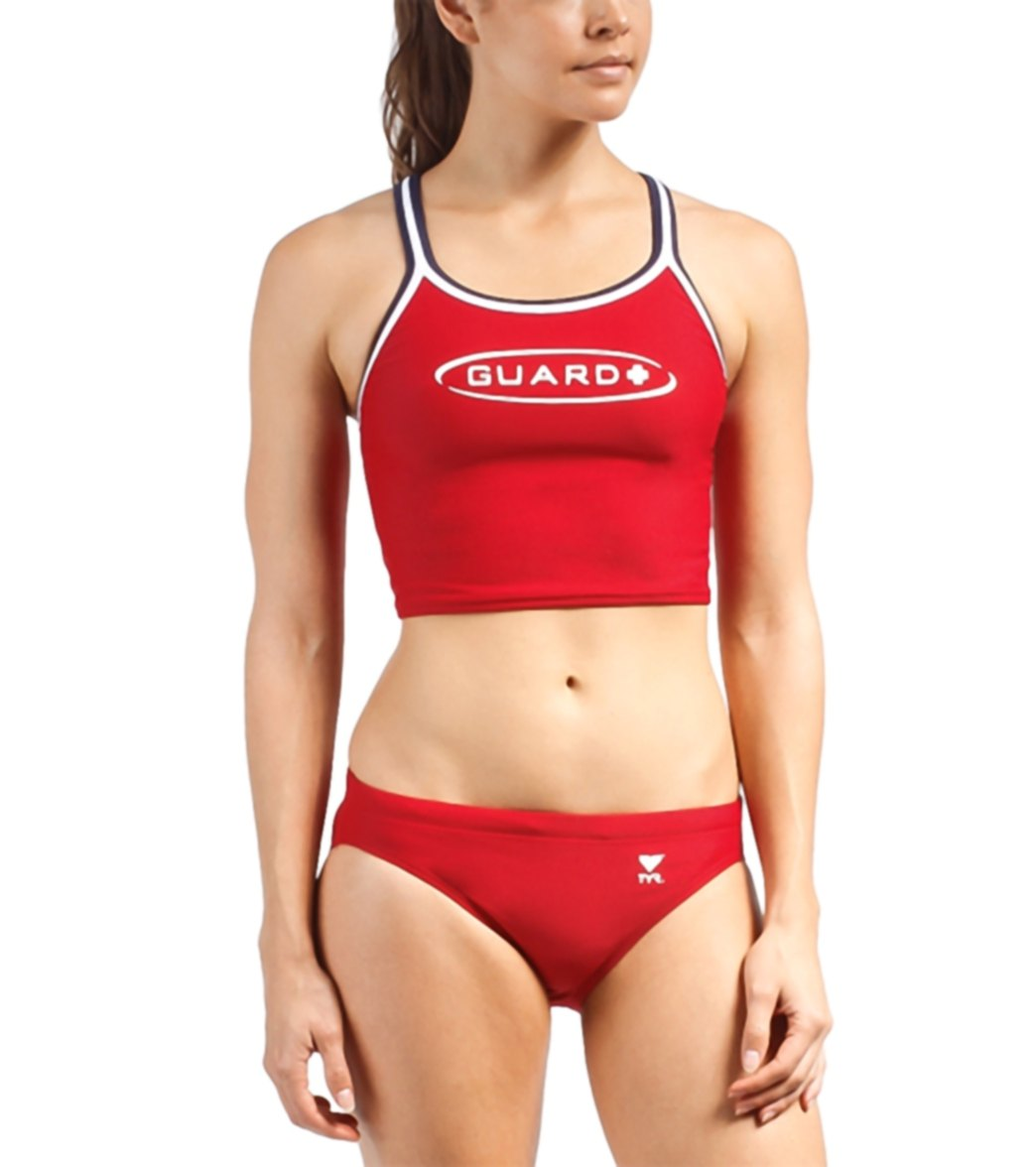 3148e97392d TYR Lifeguard Solid Dimaxfit Tankini at SwimOutlet.com - Free Shipping