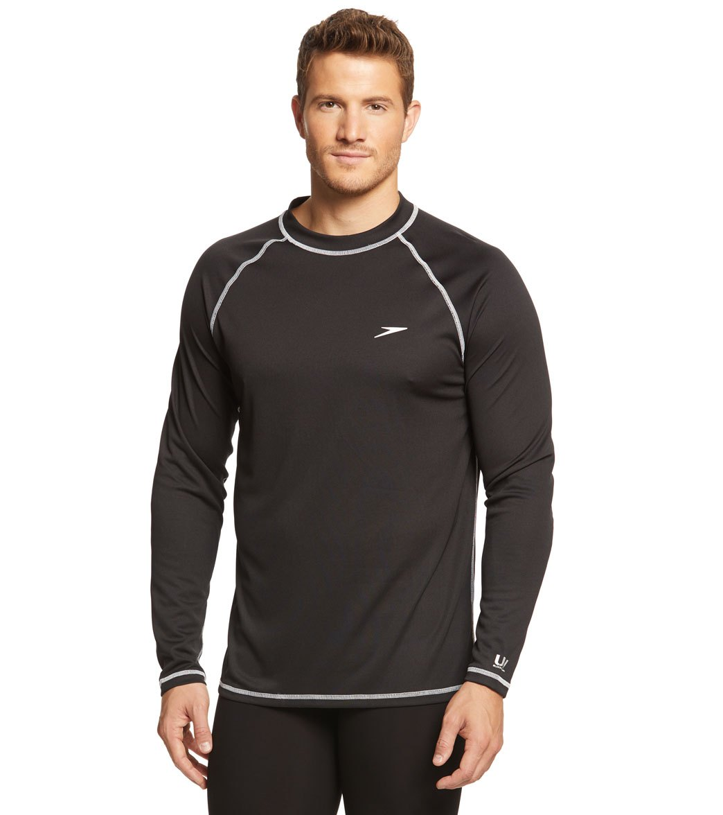 speedo men 39 s easy long sleeve swim shirt at