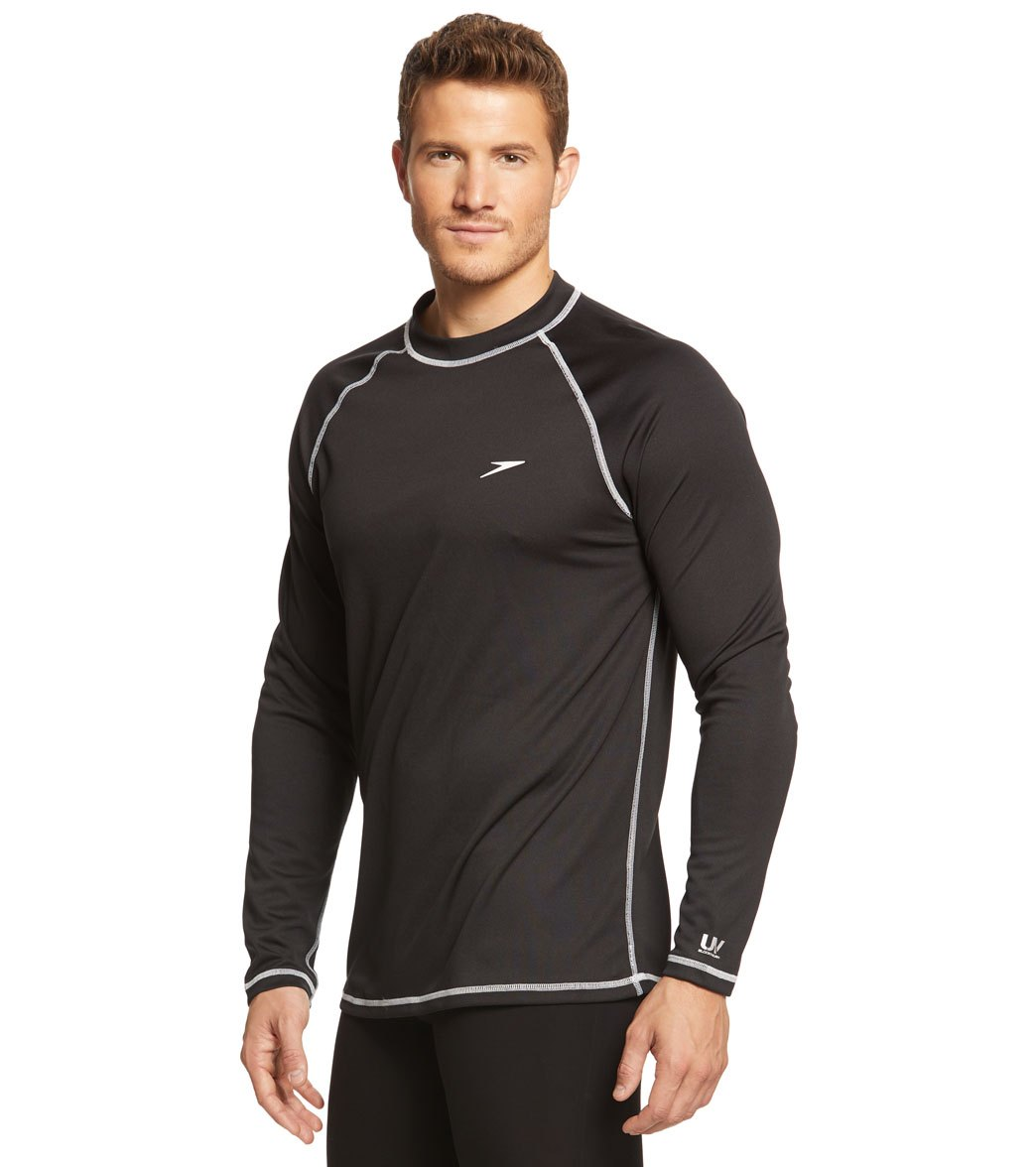 4ebd5bf5cb4 Speedo Men's Easy Long Sleeve Swim Shirt at SwimOutlet.com