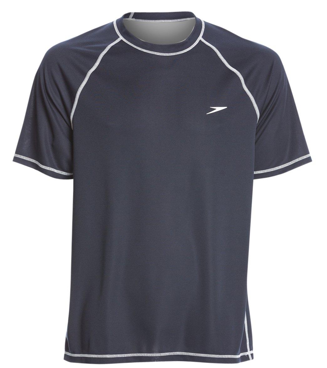 1821696171 Speedo Men's Easy Short Sleeve Swim Shirt at SwimOutlet.com