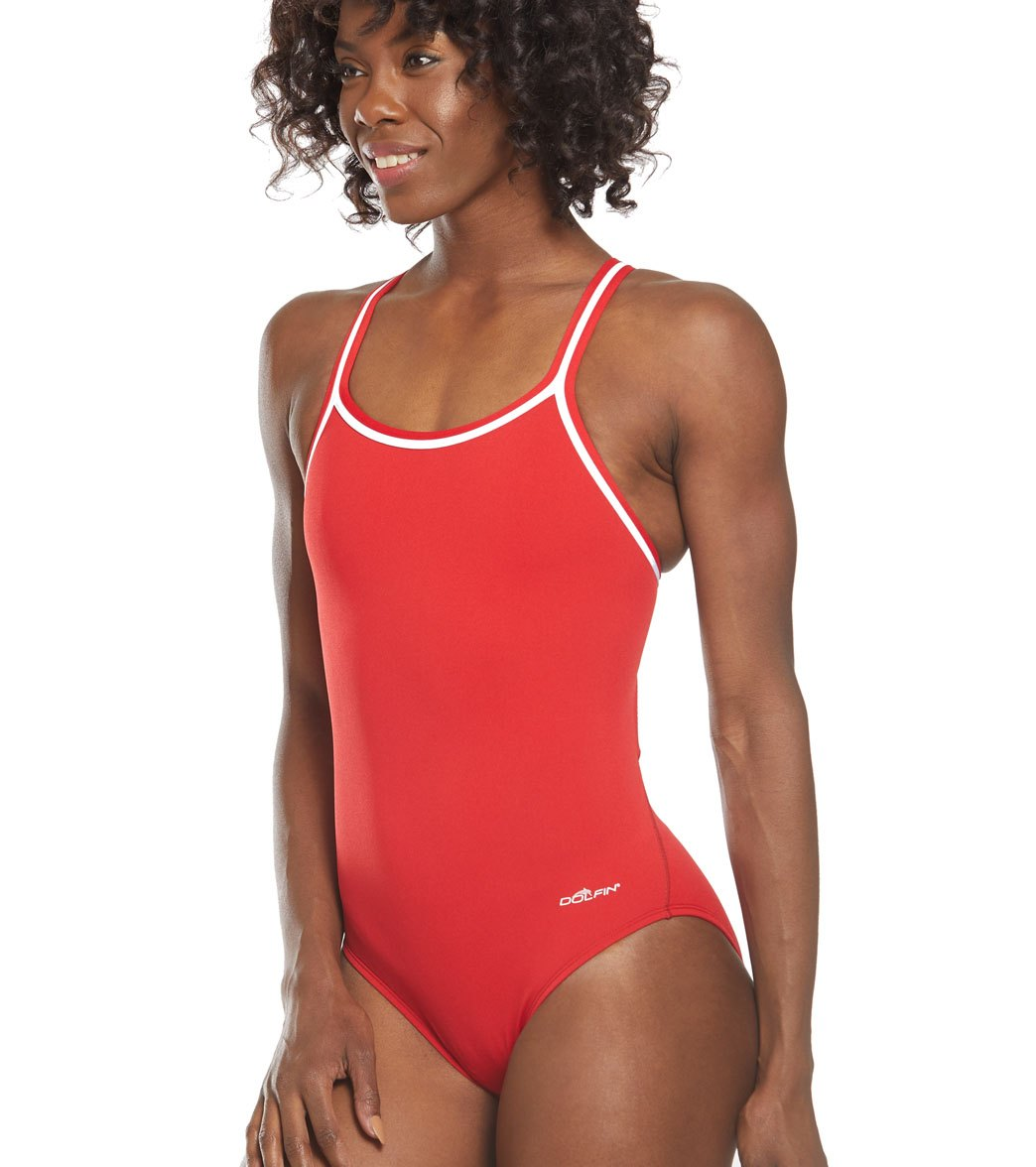 f17ee52cfd Dolfin Poly Solid DBX Back One Piece Swimsuit at SwimOutlet.com ...