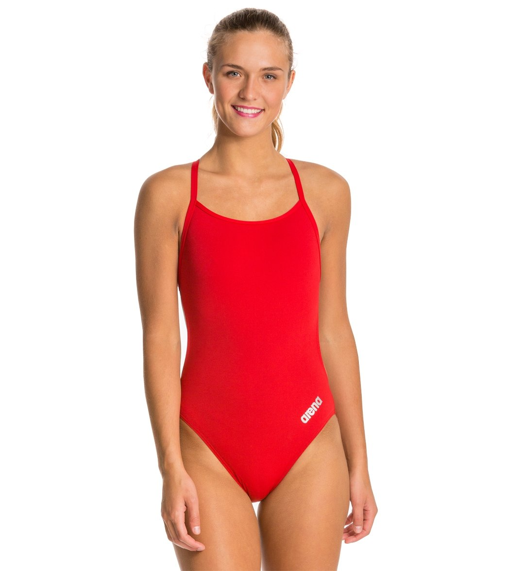b36552982969f Arena Women's Mast MaxLife Thin Strap Open Racer Back One Piece Swimsuit at  SwimOutlet.com - Free Shipping