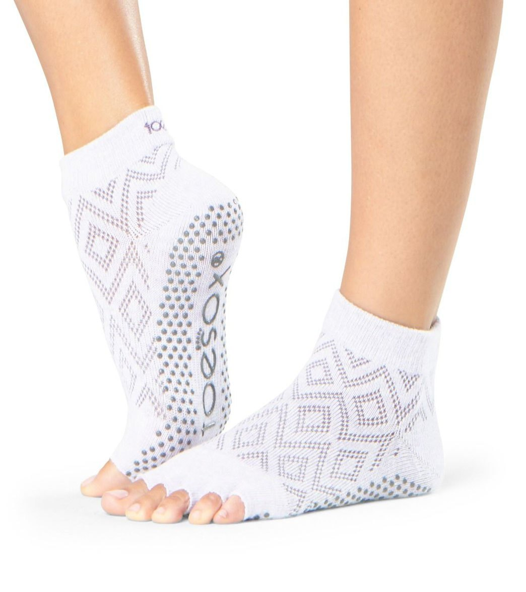 e71dc75106b7 Toesox Ankle Length Half-Toe Yoga Grip Socks at YogaOutlet.com