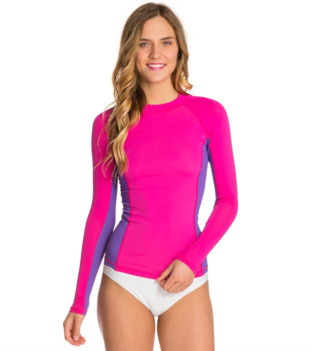 157f23d8208 Sporti Women s L S UPF 50+ Sport Fit Rash Guard at SwimOutlet.com