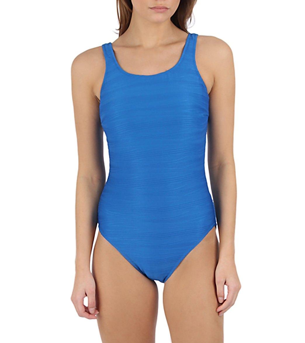 850386e77925b Gottex Mikado Mastectomy High Neck Tank One Piece Swimsuit at ...