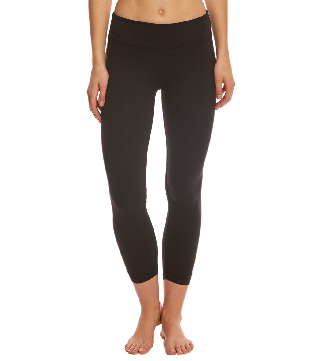 Beyond Yoga Essential Gathered Yoga Capris at YogaOutlet.com ...