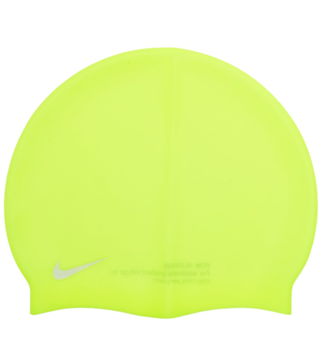 72d47b32567 Nike Junior Solid Silicone Swim Cap at SwimOutlet.com