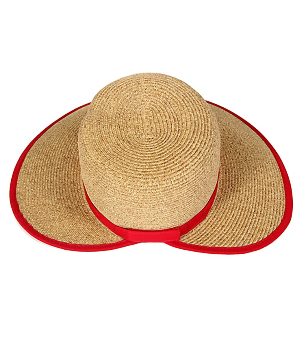 0b6a6bfb8f5 Sun N Sand French Laundry Ribbon Trim Straw Hat at SwimOutlet.com